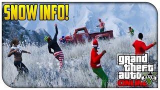 GTA 5 Online - SNOW INFO, HOLIDAY GIFTS & MORE! (Festive Christmas DLC Events) [GTA V