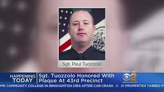 Fallen NYPD Sergeant Honored With Plaque At 43rd Precinct