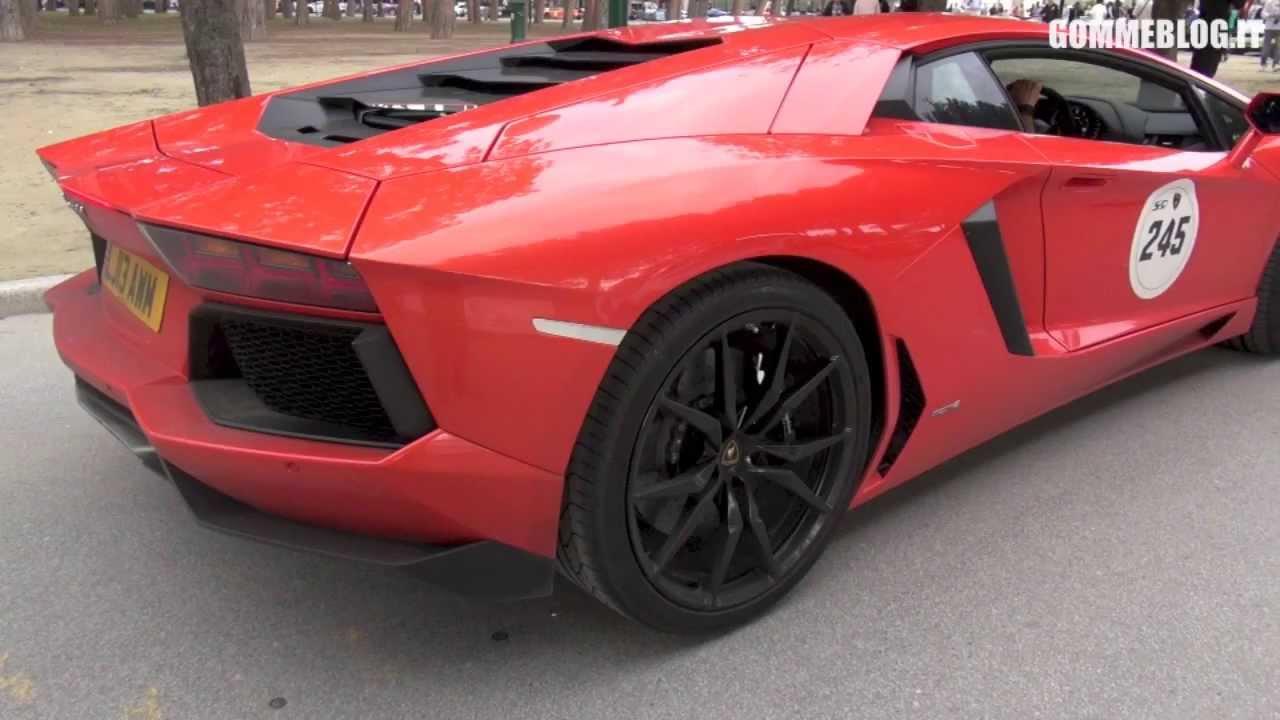 Red Lamborghini Aventador Best Sound Youtube