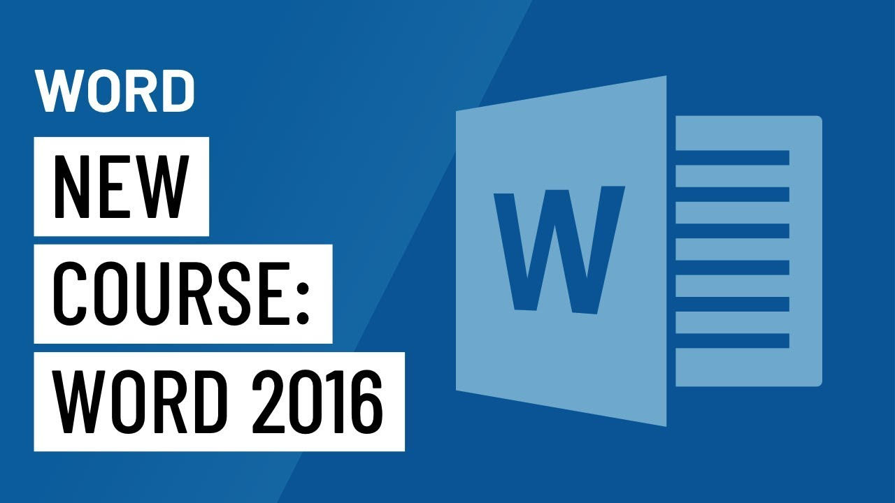 new course word 2016 youtube