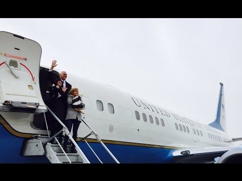 Thumbnail: Vice President Mike Pence Boards Air Force 2 as he Leaves Indiana for Washington DC!!!