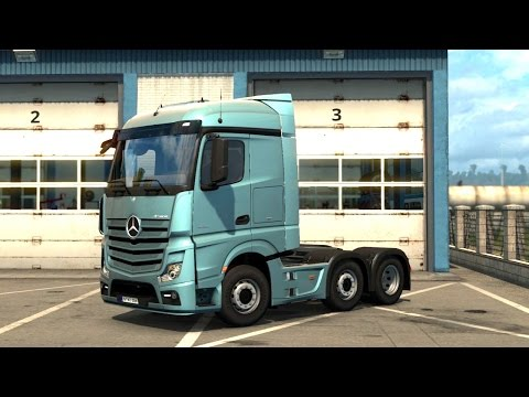 ETS 2 - Vive la France DLC - Mercedes Actros Trailer Pick up from Le Havre |