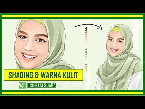 tutorial vektor kulit wajah perempuan di coreldraw
