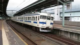 JR九州 415系8両 スペースワールド駅発車 2017年5月4日