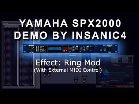Yamaha SPX2000 Demo With Synths