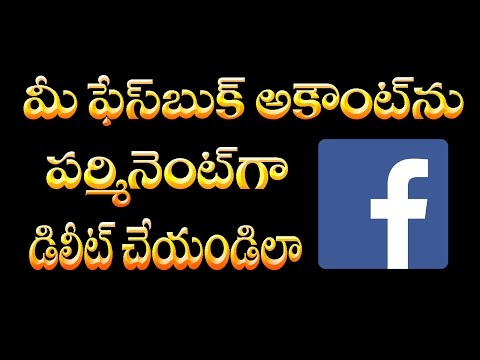 how to delete facebook account permanently | Telugu Online Tutorial | Sravan Kotagiri