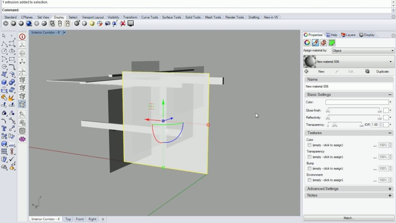 09 - Rhino - Set Object Properties to Transparent or Translucent in View