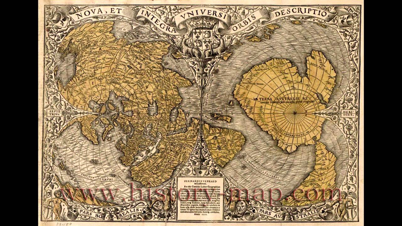 Ancient maps of Europe and China show land at north pole Music by