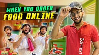 When you Order Food Online | Funcho