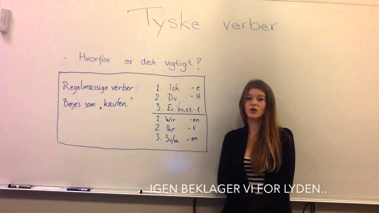 Tyske verber - regelmæssige/svage