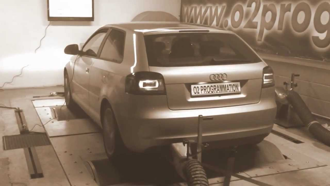 test dyno reprogrammation moteur audi a3 2l tdi 140 r el 141 188ch o2programmation youtube. Black Bedroom Furniture Sets. Home Design Ideas
