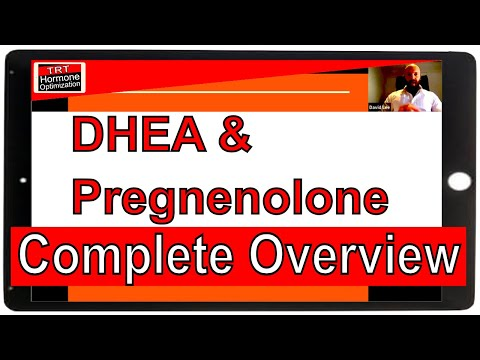 DHEA And Pregnenolone - Lecture By Dave Lee - Pregnenolone For Men - DHEA For Men