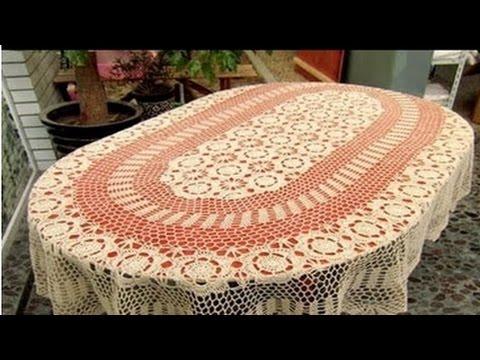 Lindos manteles de mesa tejidos a crochet n 07 youtube - Manteles para mesa ...