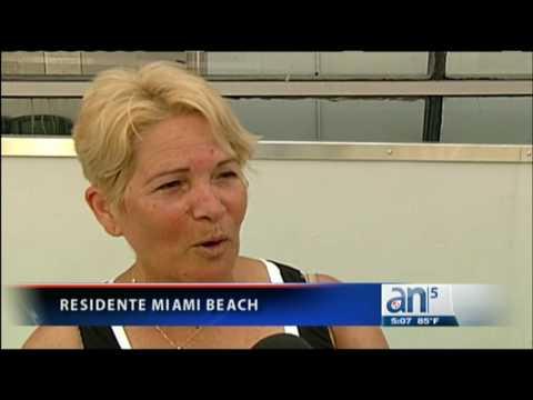 Inundaciones en la Ciudad de Miami Beach - América TeVé