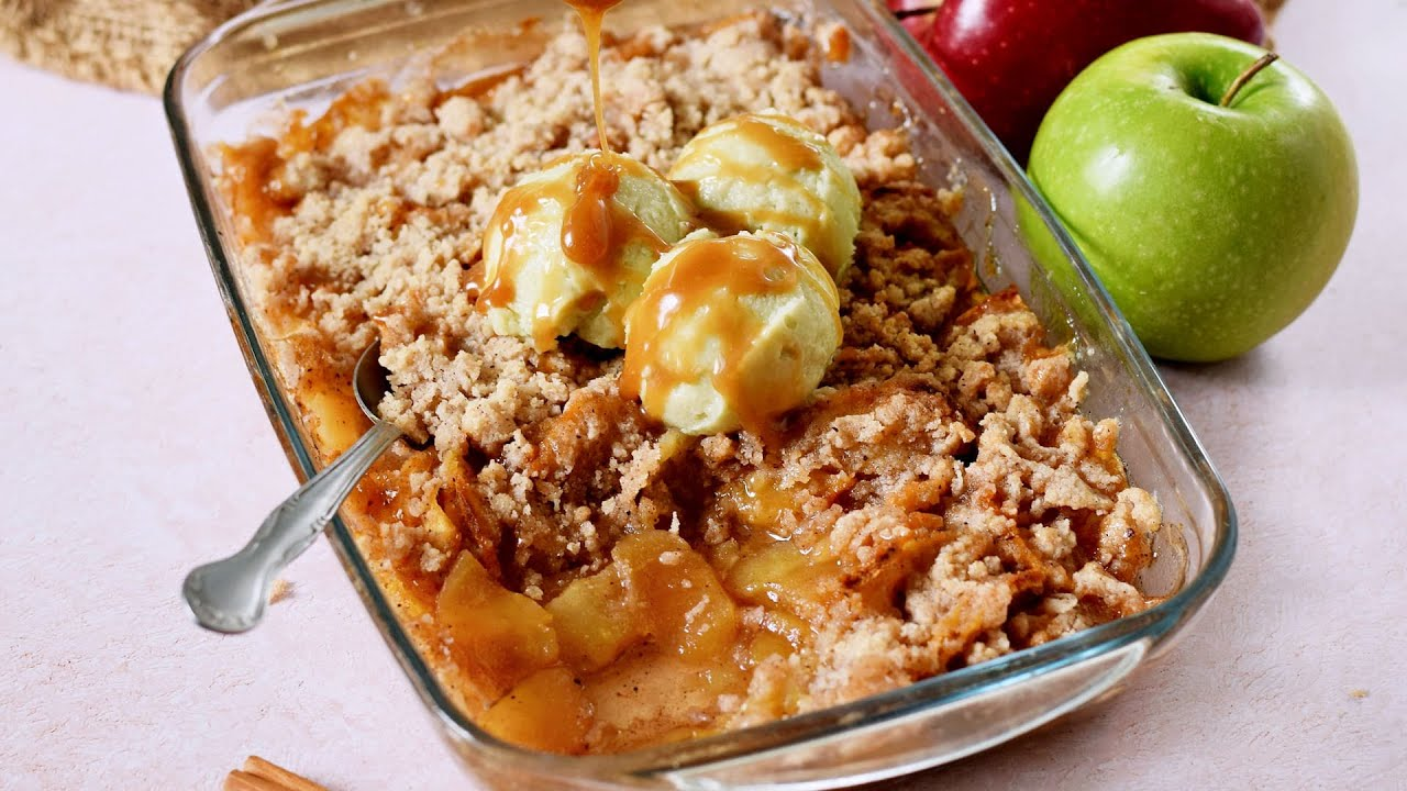 Vegan Apple Crisp, Super Tasty Recipe (Gluten-Free)