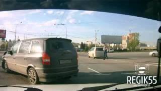Переворот Mitsubishi Pajero, Омск (06.05.2016)