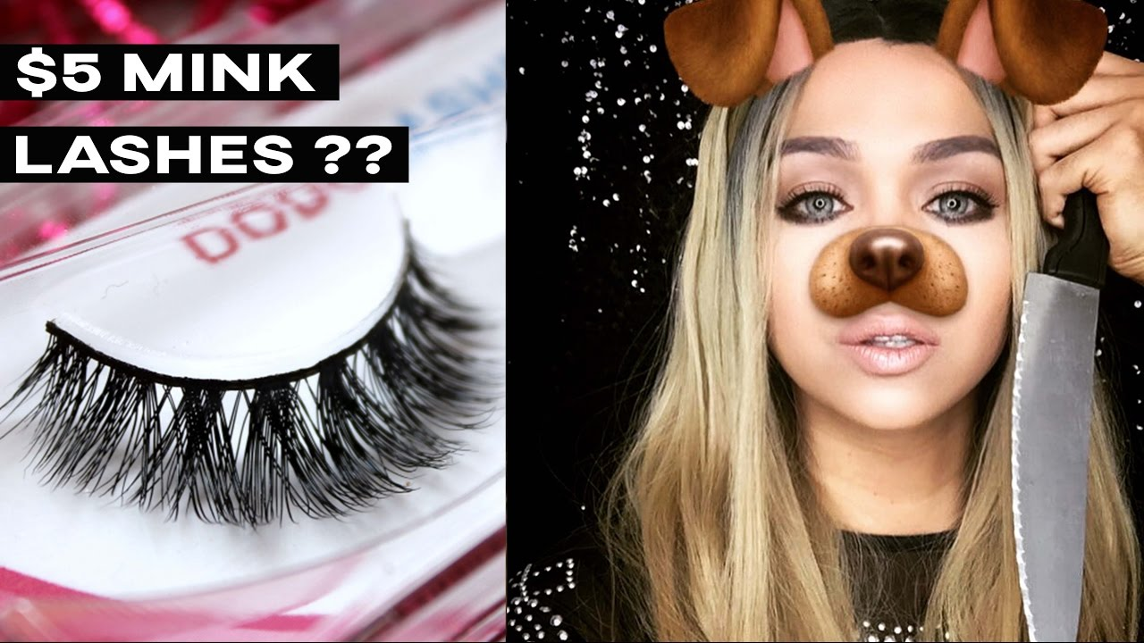 2658baa3887 Trying on 9 pairs of DODO 3D Lashes | $5 mink lashes - YouTube
