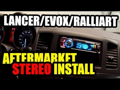 Lancer Stereo Removal And Aftermarket Install Part 2 Of 2.