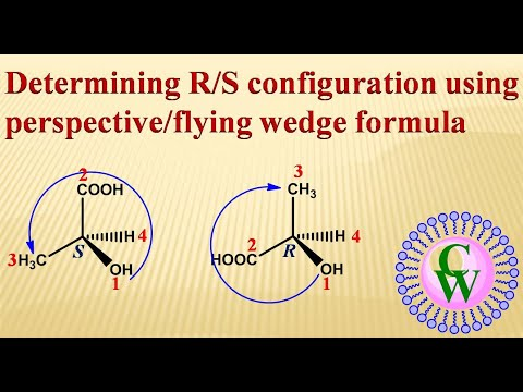 Determining R/S Configuration Using Perspective/flying Wedge Formula