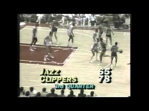 Adrian Dantley (34points) vs Clippers, 1985-86, highlights