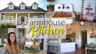 FARMHOUSE KITCHEN TOUR // FARMHOUSE DECOR TOUR WITH ME // HOME TOUR KITCHEN