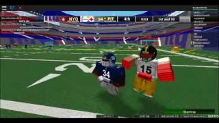 Roblox NFL Beta 2nd Half Highlights Giants vs Steelers