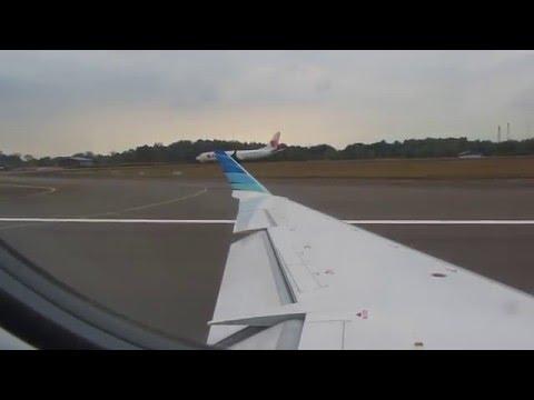 garuda indonesia takeoff from batam hang nadim intl airport