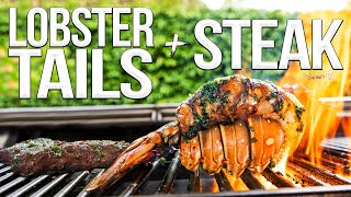 Lobster Tails & Chimichurri Steak (Surf and Turf Recipe) | SAM THE COOKING GUY 4K