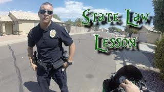 Cop caught texting and driving, lays down the law.