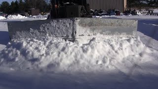 Scrap Snowplow in Action
