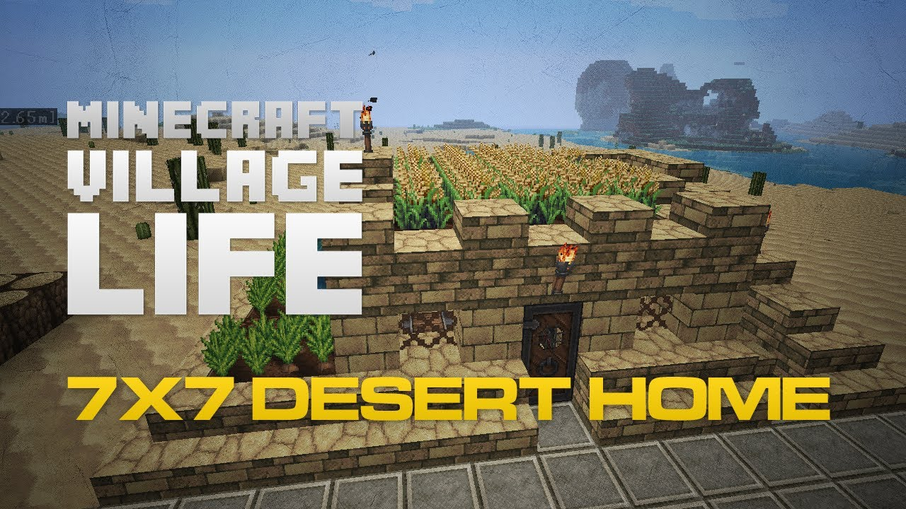 Minecraft Village Garden minecraft build: efficient desert home | village life 5 - youtube