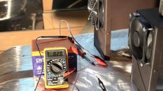 Теплообмінник тест. Заміри споживання струму і робоча температури.