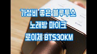 가성비 좋은 블루투스 노래방 마이크 로이체 BTS30K…