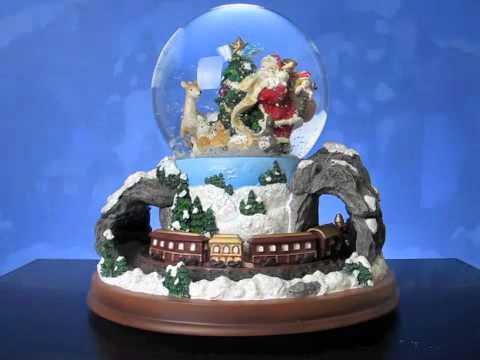 Santa and Rotating Train