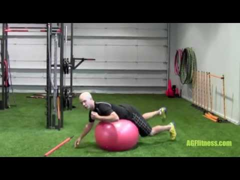 Golf fitness Workout: functional stability using a swiss ball to improve your golf game