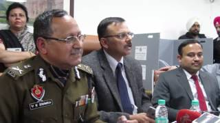 ADGP cum police nodal officer for election V K Bhawra addressing the media in Chandigarh
