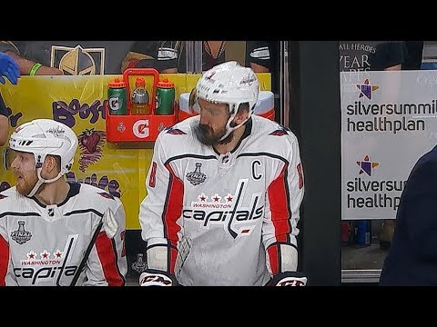 Alex Ovechkin takes puck to face, barely flinches