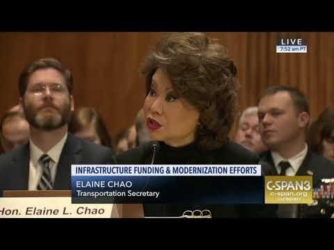 Senator Merkley Questions Elaine Chao On Infrastructure Funding, 3/1/18