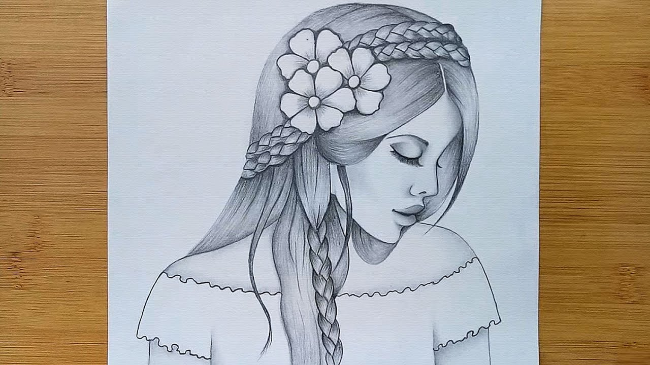 How To Draw Beautiful Hairstyle Step By Step Draw A Girl With Pencil Sketch Youtube Showing emotions through sketches is a very amazing work, that can be shown by only creative artists. how to draw beautiful hairstyle step by step draw a girl with pencil sketch