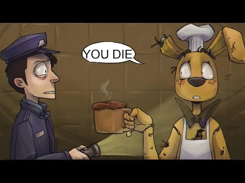 Thumbnail: Springtrap's Cooking VS The Nightguard! (Five Nights at Freddy's FNAF Comic Dub Compilation)