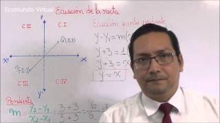 Ecuación de la recta dados dos puntos en el plano cartesiano