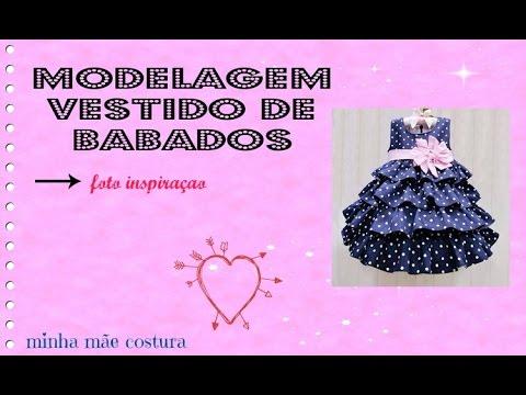 bdc64afca MODELAGEM VESTIDO DE BABADO - YouTube