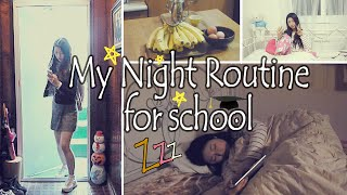 흔한 한국 여고생의 하루  / My Night Routine for school ☽✩