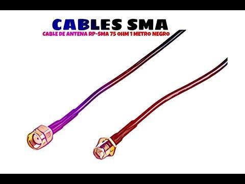 Video de Cable de antena RP-SMA 50 Ohm 1 M Negro