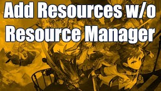 RPG Maker MV - How to add Resources to your game
