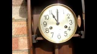 Antique  Vintage Old  Small Wall Clock Working Order