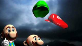 3ds max -Mario V.S. Superman