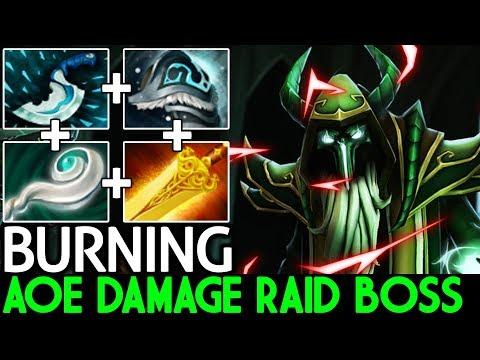 BurNIng [Necrophos] Insane AOE Damage Raid Boss Gameplay 7.2