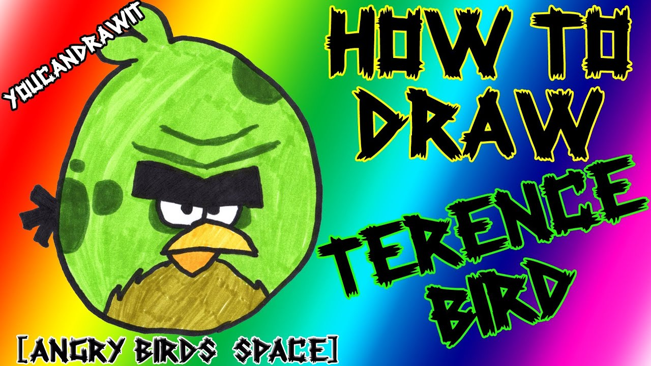 How To Draw Terence Bird Space Big Brother From Angry