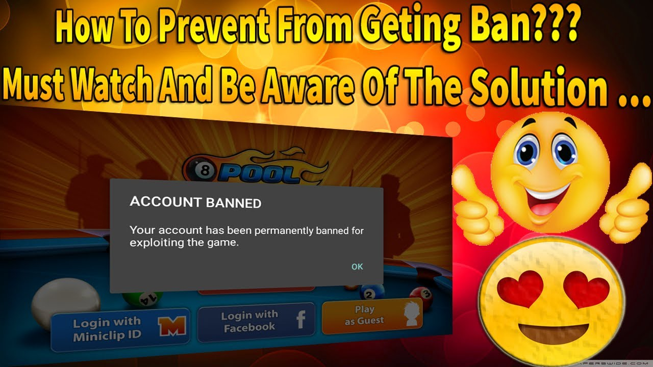 How To Prevent From Getting Ban Your Account? | 8 Ball Pool -